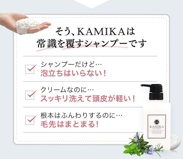 KAMIKAは常識を覆すシャンプーです